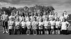 Cherry, Blue, Pink?: Girl's tennis team shows support for breast cancer awareness