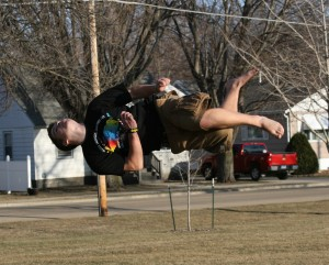 PARKOUR: Parkour and tricking comes naturally to some students