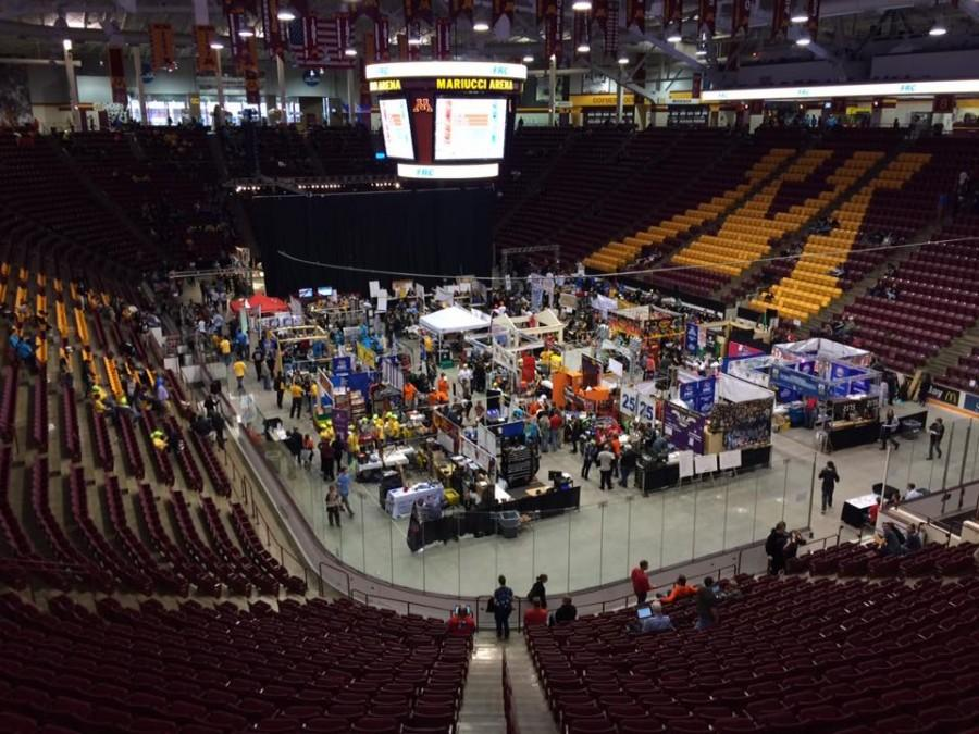 Mariucci Arena hosted 60 robotics teams this weekend at the North Star Regional