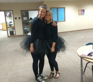 Megan Vogt (12) and Alli Sherman (12)