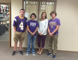 Riley Larson (10), Nicolas Cantu (10) Courtney Claassen (10) and Cole Wentzel (10)
