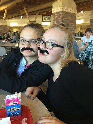 Chloe Stripe (12) and Rhiannon Farr (12)