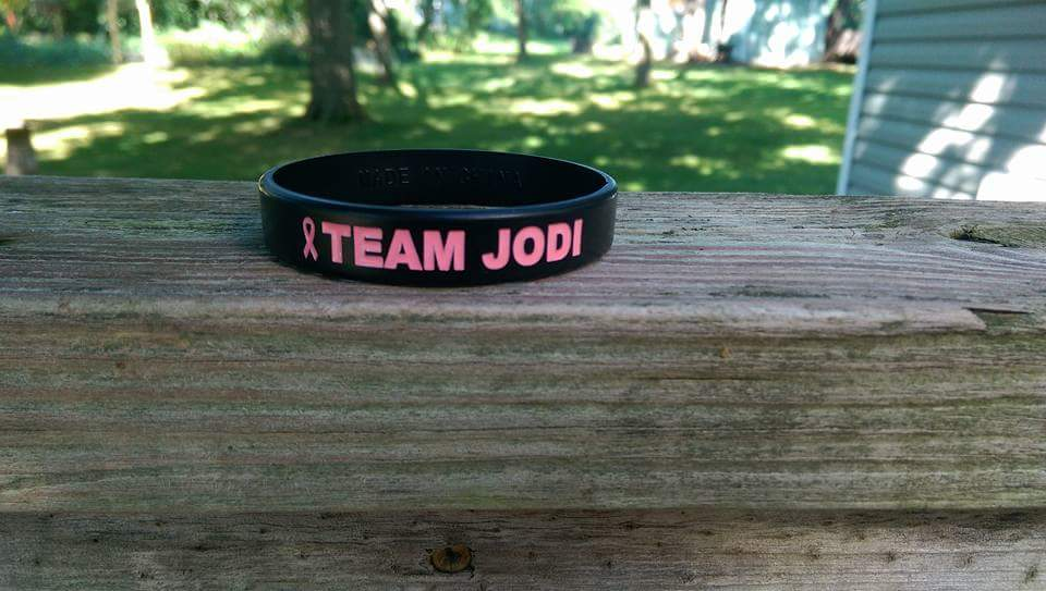 This bracelet was made affter my mom was diagnosed.