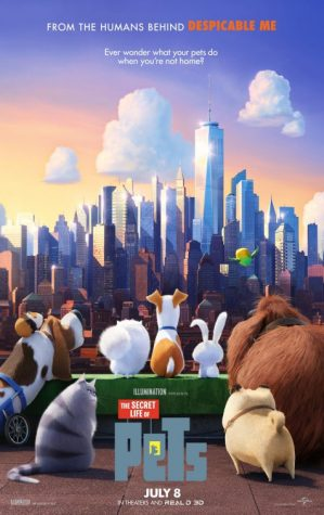 "The official movie poster for ""The Secret Life of Pets"""