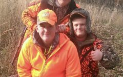 ALHS Students, clad in orange enjoy a successful day hunting during hunting season