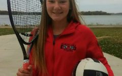Nevaeh Wacholz is an eighth grader at Albert Lea High School. She had the opportunity to join girls' tennis in the fall due to the COVID-19 postponement of her volleyball season.